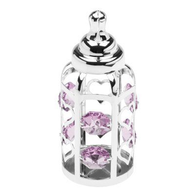 Butelka smoczek Swarovski Różowe kryształy pamiątka chrztu Grawer