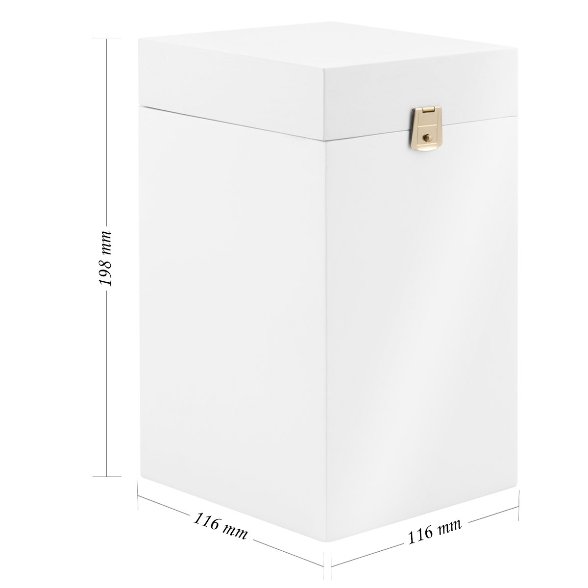 Białe Pudełko Drewniane na pozytywkę z Grawerem Chrzest Komunia Św.
