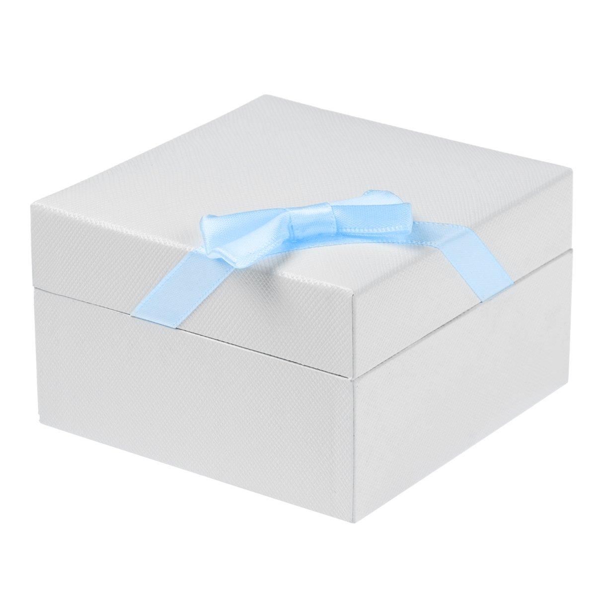 Łyżeczka Srebrna 925 Aniołek z zegarem i miejscem na ząbek Grawer Niebieska wstążka