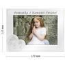 Ramka na zdjęcie I Komunia Św. dla Dziewczynki na białym drewnie Grawer 1