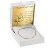 Bransoletka łańcuszek z blaszką złoto 585 z regulacją z Grawerem 3