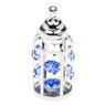 Butelka smoczek Swarovski błękitne kryształypamiątka chrztu