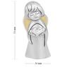 Figurka anioła z sercem, posrebrzana na Chrzest Dedykacja 4