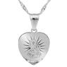 Srebrny Medalik Serce Matka Boska Częstochowska pr. 925 Grawer  3