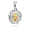 Srebrny Medalik Z Matką Boską Częstochowską Grawer 3