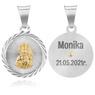 Srebrny Medalik Z Matką Boską Częstochowską Grawer 2