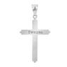 Srebrny duży krzyżyk z Jezusem / na I Komunię Św. / Chrzest Św. / pr. 925 / z Grawerem 5
