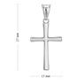Srebrny krzyżyk na I Komunię Św. / Chrzest Św. / pr. 925 2