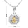 Srebrny medalik Matka Boska Częstochowska Pozłacana pr. 925 Grawer 4