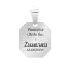 Srebrny medalik Matka Boska Madonna Pamiątka na Chrzest GRAWER 5