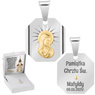 Srebrny medalik Matka Boska / Madonna - pozłacany GRAWER 7