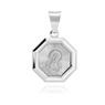 Srebrny medalik Matka Boska Madonna pr. 925 Grawer 4