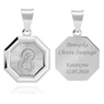 Srebrny medalik Matka Boska Madonna pr. 925 Grawer 1