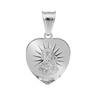Srebrny medalik z Matką Boską Częstochowską / serce / pr. 925 / z Grawerem