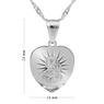 Srebrny medalik z Matką Boską Częstochowską z łańcuszkiem / serce / pr. 925 / z Grawerem i Dedykacją 7