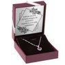 Srebrny wisiorek  pr. 925 serce z rubinową cyrkonią Dedykacja 2