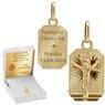 Złoty medalik z Jezusem Chrystusem pr. 585 Grawer 1