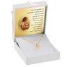 Złoty medalik z Matką Boską Fatimską w okręgu pr. 585 Dedykacja 2