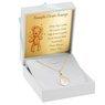 Złoty medalik z Matką Boską z łańcuszkiem pr. 585 na chrzest komunię Dedykacja 2